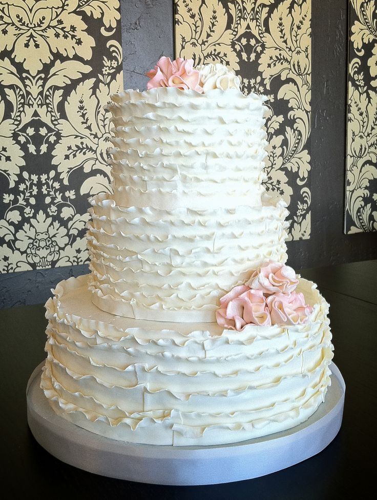 ruffled wedding cakes 16 best ideas about wedding inspiration on 19458
