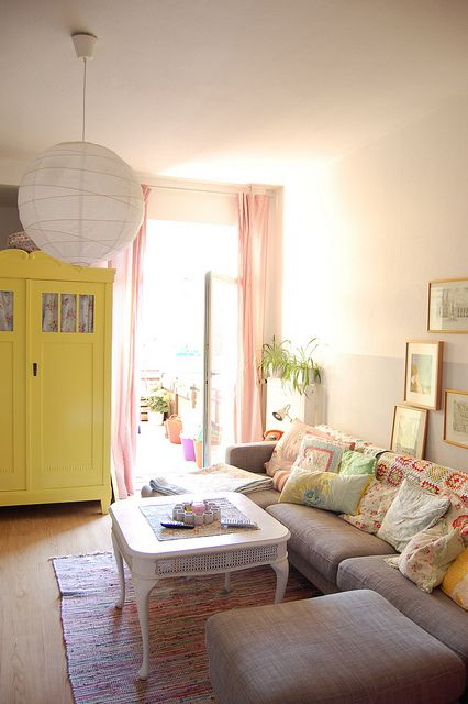 the new old yellow armoire by whereyourheartis, via Flickr
