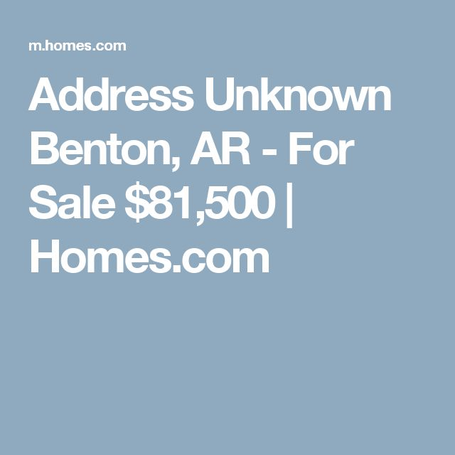 Address Unknown Benton, AR - For Sale $81,500 | Homes.com