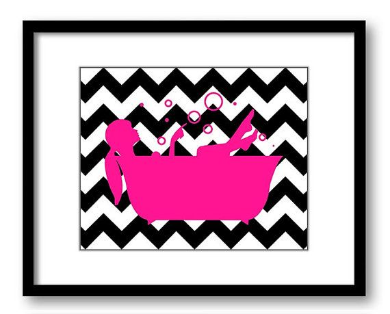 17 best images about madelyn on pinterest flower prints for Hot pink and black bathroom ideas