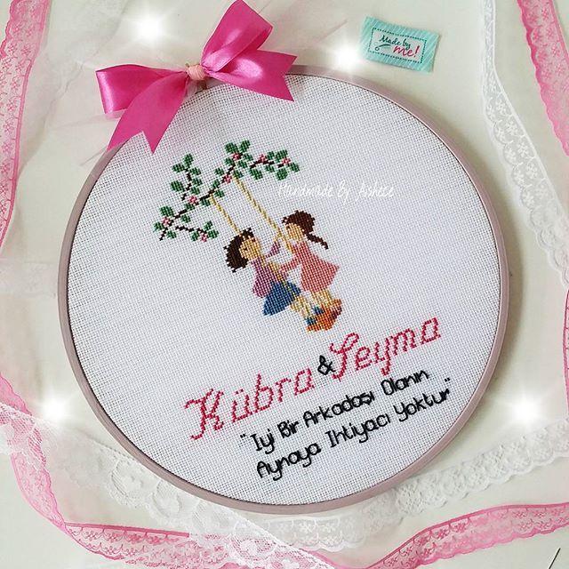 ♥ Kübra ve Şeyma'nın güzel dostlugu hic bitmesin diye ♥ ~ #kanavice #kanaviçe #etamin #etaminpano ...