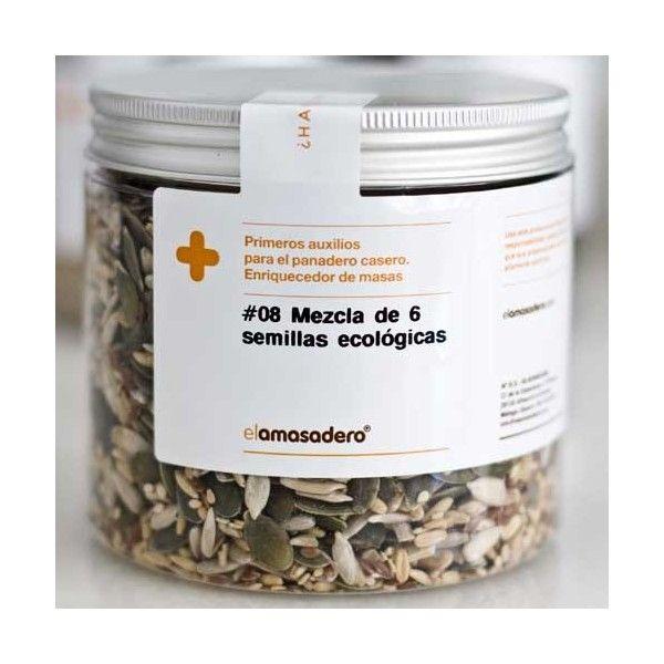 Mezcla 6 semillas ecológicas - 400 g - El Amasadero