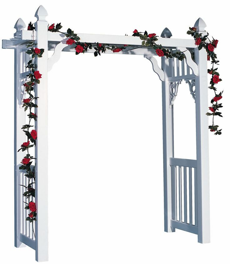 Wedding Trellis Ideas Part - 34: Amish Vinyl White Victorian Walkway Arbor