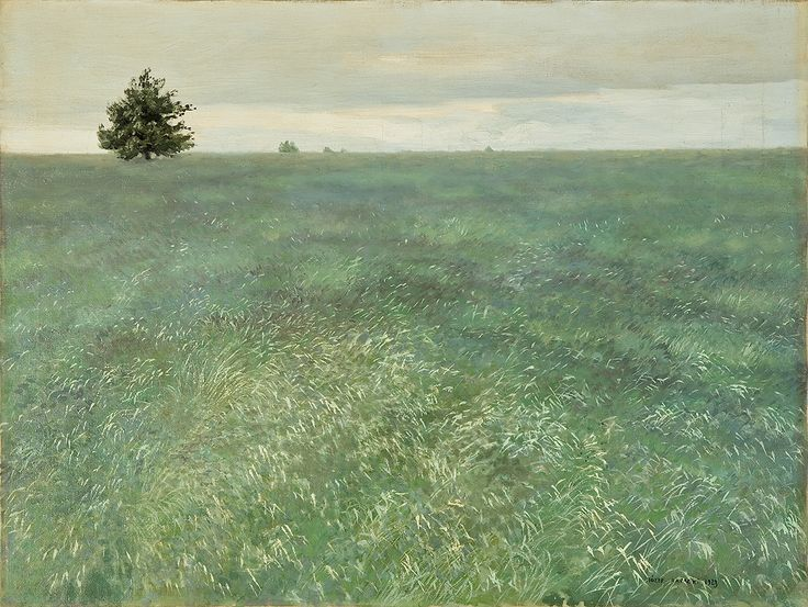 Jozef Rapacki (Polish, 1871-1929)  Green Field (Zielony Łan), 1923