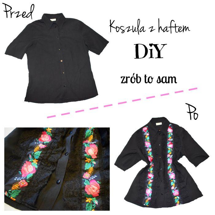 ...Dalwi... blog o szyciu i nie tylko: DIY - Jak przerobić i ozdobić koszulę? Recykling u...