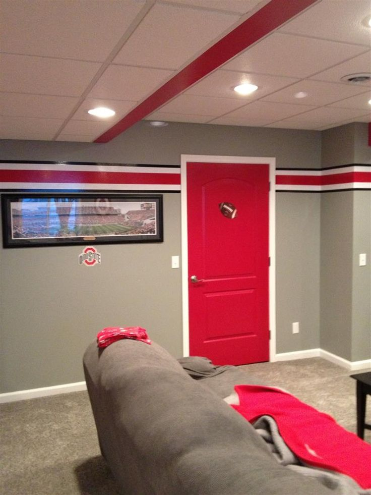 237 best ohio state man cave images on pinterest ohio state buckeyes ohio state university for Ohio state bedroom paint ideas