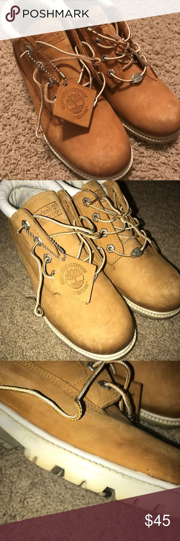 Timberland Nellie Chukka Boots sz 7 Timberland waterproof boots, women's size 7. The white on the bottom looks a little dingy, but I'm sure it could be cleaned other than that they are in good condition. Timberland Shoes Ankle Boots & Booties