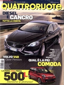 Quattroruote Magazine, popular Italian auto magazine.