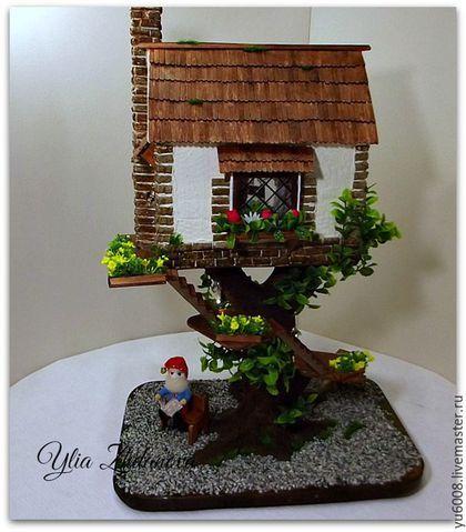Кукольный дом ручной работы. Заказать Миниатюрный домик для Гнома.. Юлия Ж. Ярмарка Мастеров. Дом, миниатюра, пластика фимо