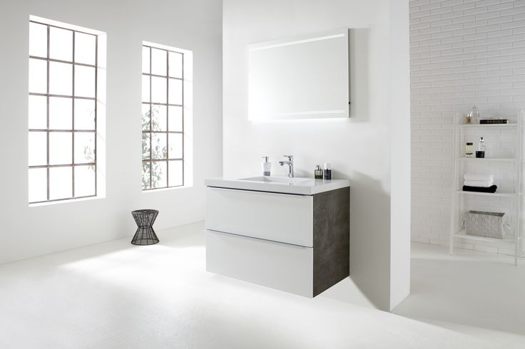 This is the 'Exclusive' with white fronts and grey sides. By www.bathroomdesigncuracao.com