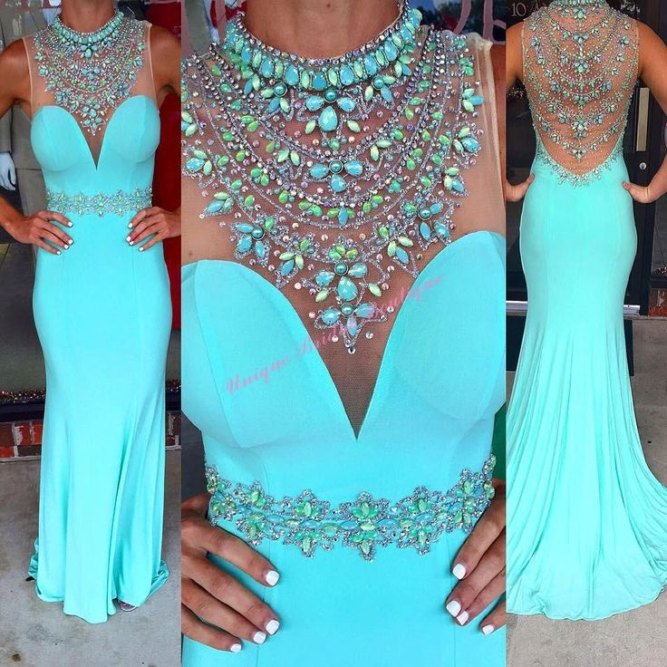Prom Dresses Toronto 2016 Sexy Mint Prom Dresses With Beaded High Neck And Illusion Back Model Pictures Beading Crystals Chiffon Sheath Ring Dance Gowns Sexy Prom Dress From Nicedressonline, $156.64| Dhgate.Com