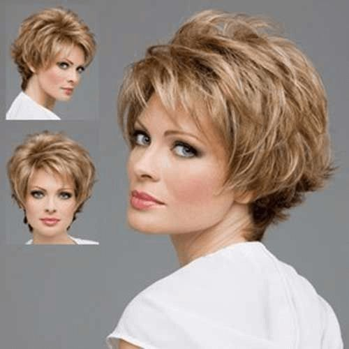 Bob frisuren für ältere damen blond haare kurz