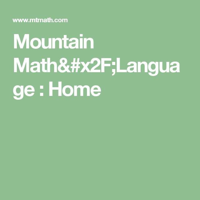 Mountain Math/Language : Home