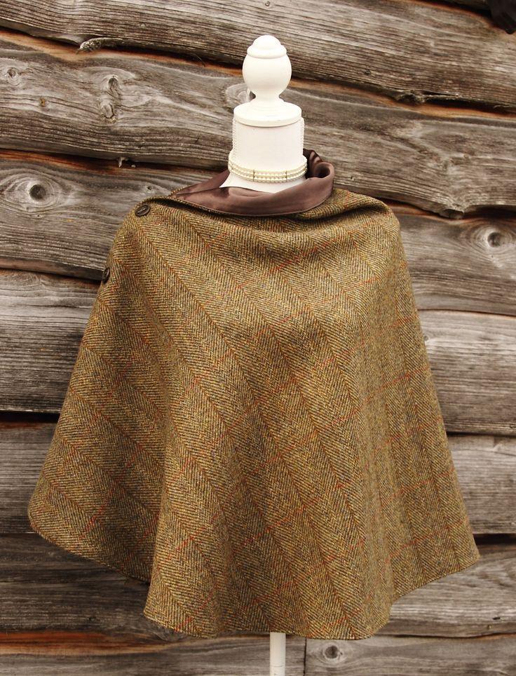 Harris Tweed Olive Wrap