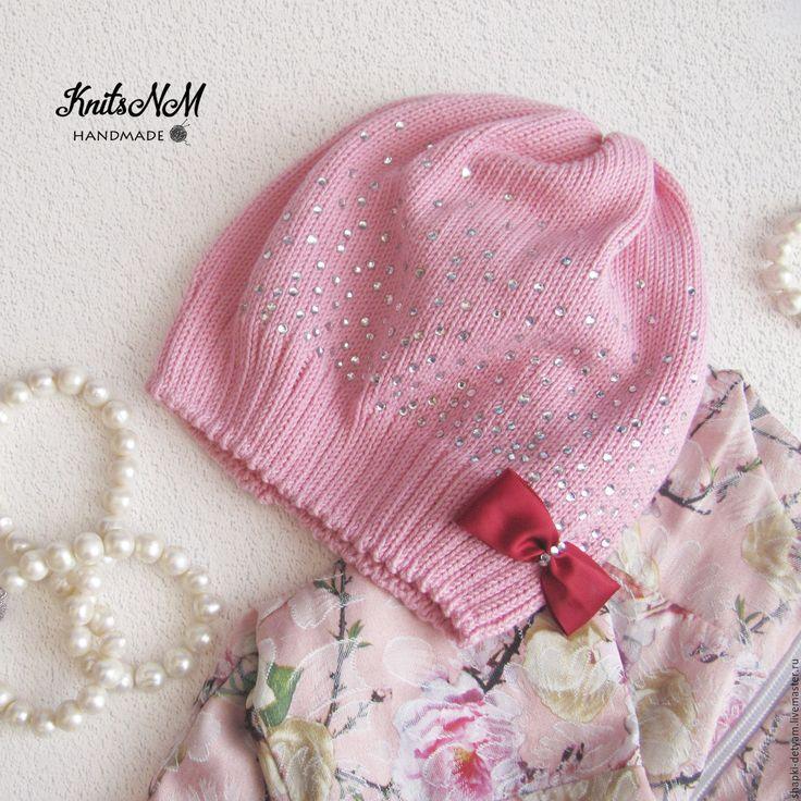 Купить Весенняя шапочка для девочки - весенняя шапочка девочки, шапочка для девочки, вязаная шапочка