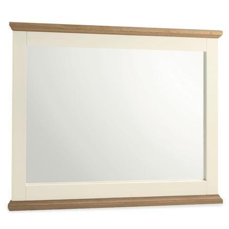 Penzance Oak Two Tone Wide Wall Mirror | Dunelm Mill