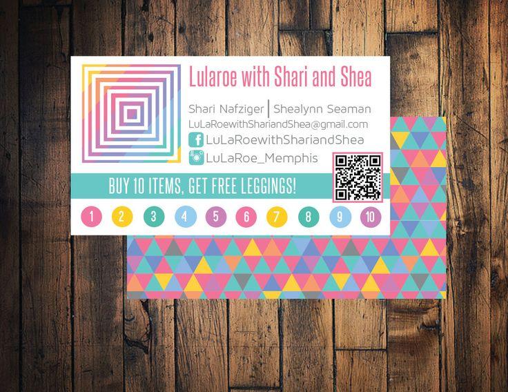 Lularoe business card lularoe punch card lularoe for Lularoe business card ideas