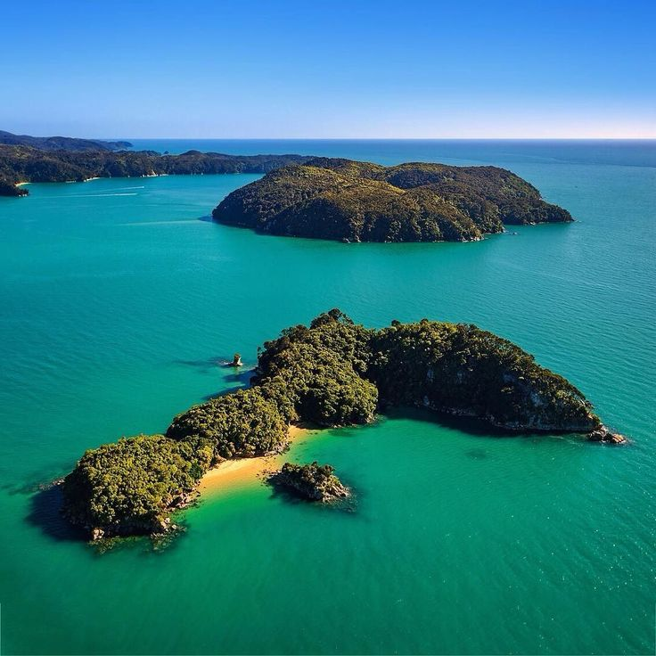 Fisherman Island. Taken two weeks ago while visiting @ilovenelsontasman  Usually one of the first island you see when visiting the Abel Tasman national park. Great to be able to see it from a different angle! . . . . . . .