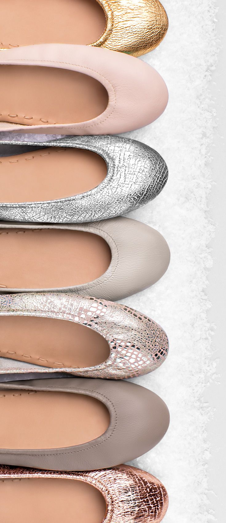 Neutralize the cold with soft winter neutrals. | Tieks Ballet Flats