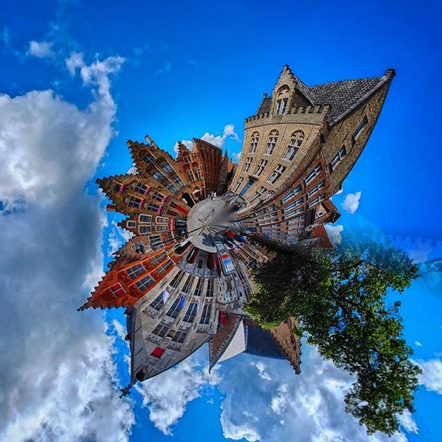 #TinyPlanet #brugge #summertime #city #architecture #middleages #fisheye made with #fuji #eyefi #rollworld #ios