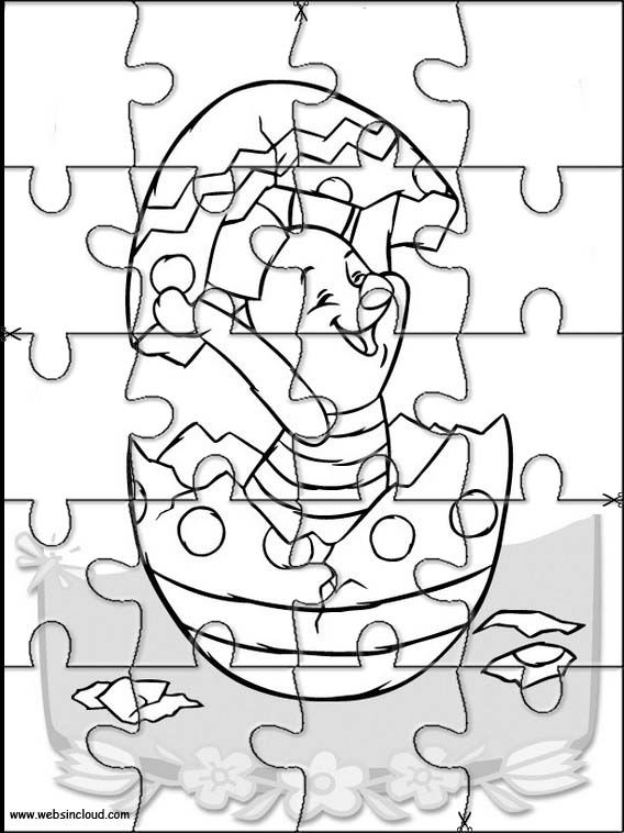 Printable jigsaw puzzles to cut out for kids Winnie the