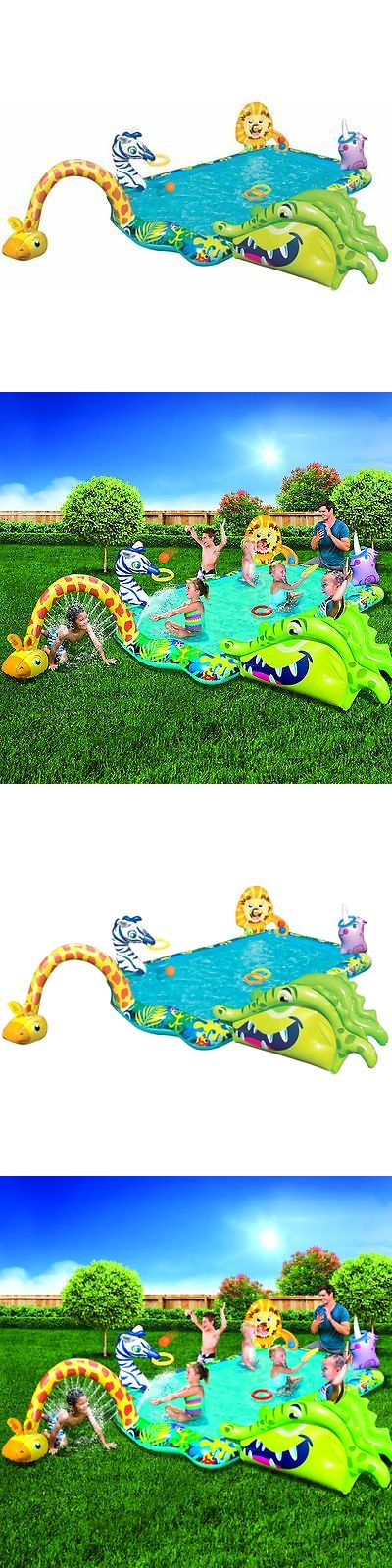 Inflatable and Kid Pools 116407: Kids Swimming Pool Outdoor Inflatable Kiddie Pools Water Fun Splash Activity New -> BUY IT NOW ONLY: $60.6 on eBay!