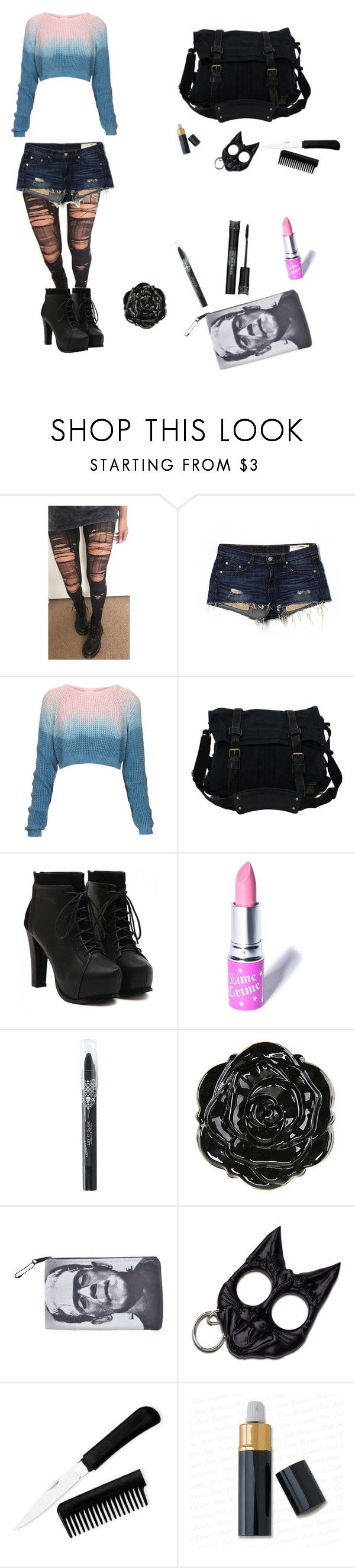 """Untitled #13"" by dino-nuggets ❤ liked on Polyvore featuring rag & bone/JEAN, The Ragged Priest, Belstaff, Lime Crime and Tony Moly"