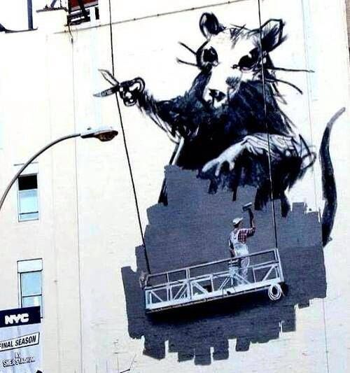 a review of the cave paintings of the english based graffiti artist banksy Cardboard art, sculpture, and bas-relief work  paintings on the wall by british graffiti artist banksy  (also enquiry-based learning in british english).