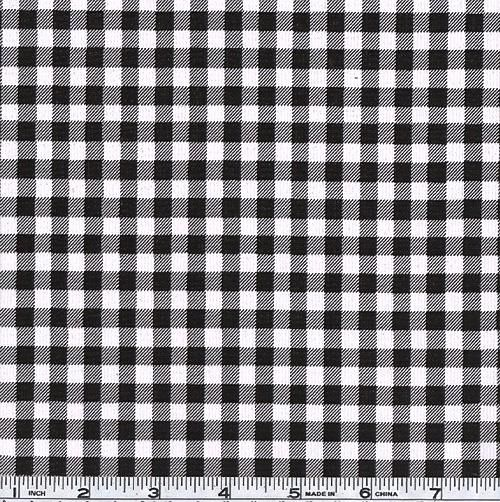 Oil Cloth Gingham Black/White   Tablecloth For Tailgate?