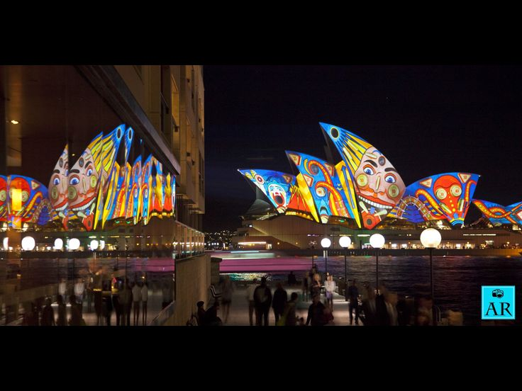 Sydney Opera House is vivid. Copyright Aaron Rusden Photography