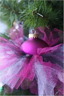 Tutu Ornaments. They would really add a full look to the tree. hope-this-makes-me-crafty