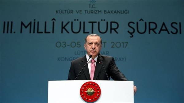 Erdoğan: Turkey should 're-discover cultural values'  Turkish president says country has taken 'important steps' in developing cultural economy