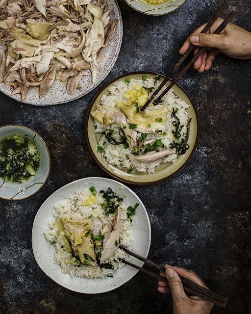 Hainan Chicken And Ginger Rice via @feedfeed on https://thefeedfeed.com/limeandcilantro/hainan-chicken-and-ginger-rice