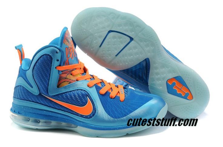 Cheap Size 7 Lebron 9 For Sale China Vibrant Blue Orange 469764 800