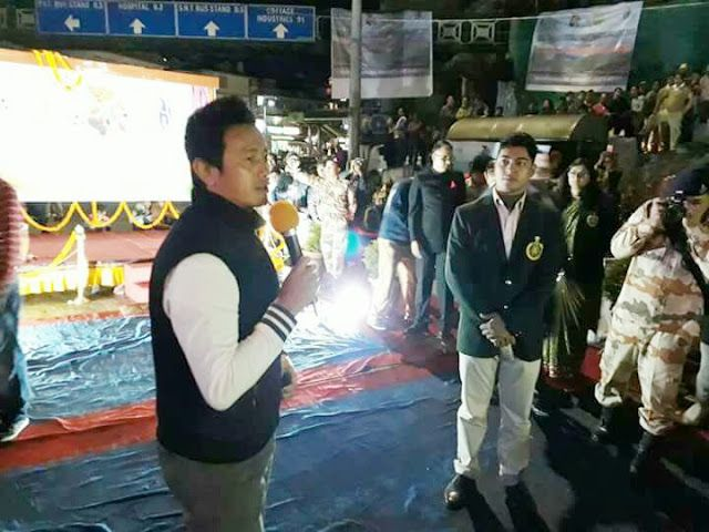 Curtain Raising Ceremony of Oorja Cup U 19 Football Tournament 2017 at Gangtok today   Former Indian Football Team Captian Bhaichung Bhutia addressing the gathering during curtain raiser ceremony.  The matches shall commence from 01 May to 10 May 2017 at Paljor Stadium Gangtok which is being organised by Indo Tibetan Border Police ITBP. ITBP Bhaichung Bhutia #itbp #bhaichungbhutia  Report by Ajay Agarwal Gangtok  Sikkim