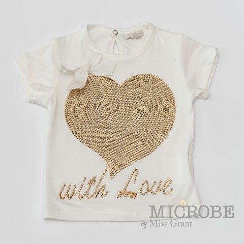 GOLDEN HEART T-SHIRT. Sale 50% off Spring&Summer Collection!