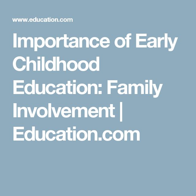 Importance of Early Childhood Education: Family Involvement | Education.com