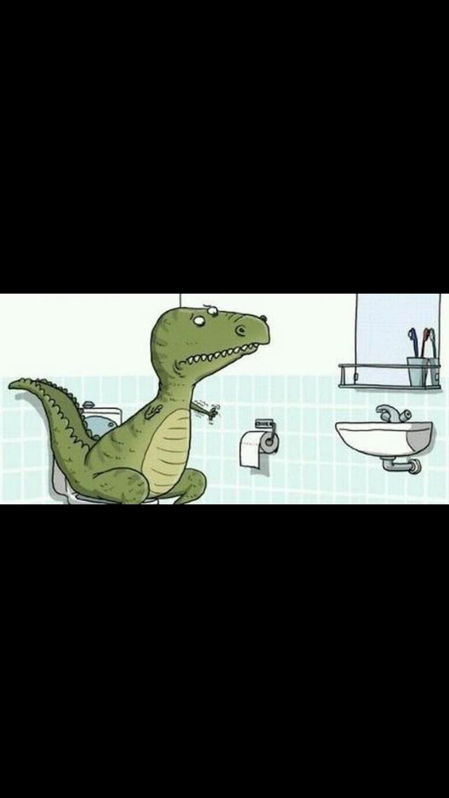 T-rex doesn't like toilet paper.