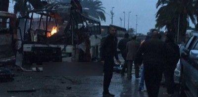 Attentat à Tunis : explosion à bord d'un bus de la sécurité présidentielle