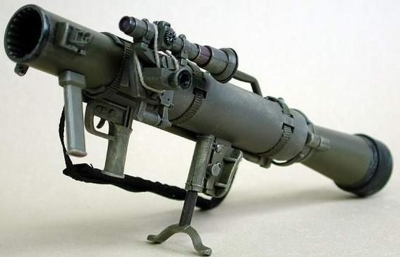 Shoulder-Launched Multipurpose Assault Weapon (84mm Carl Gustov) As used by the…