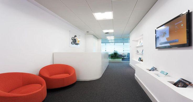 Zona de recepção nos escritórios da GFI em Lisboa, Portugal