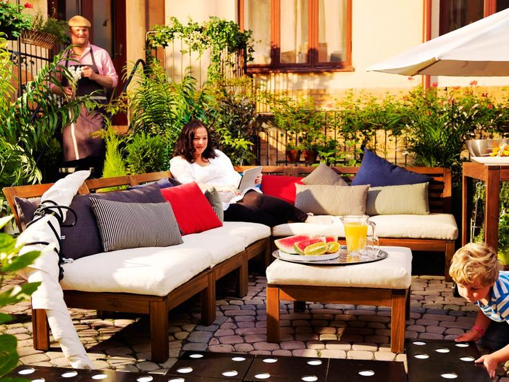 ikea complete courtyard living all the neighbours can enjoy the courtyard when theres comfortable outdoor furniture made for lounging cooking