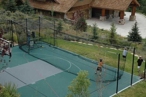 35 best images about sport courts on pinterest for Sport courts for backyards