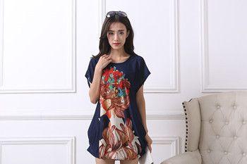 2017 new women T Shirt Dress Plus Size Women mini dress short sleeve Loose Casual Tops print tunic dresses large big 4xl 5xl