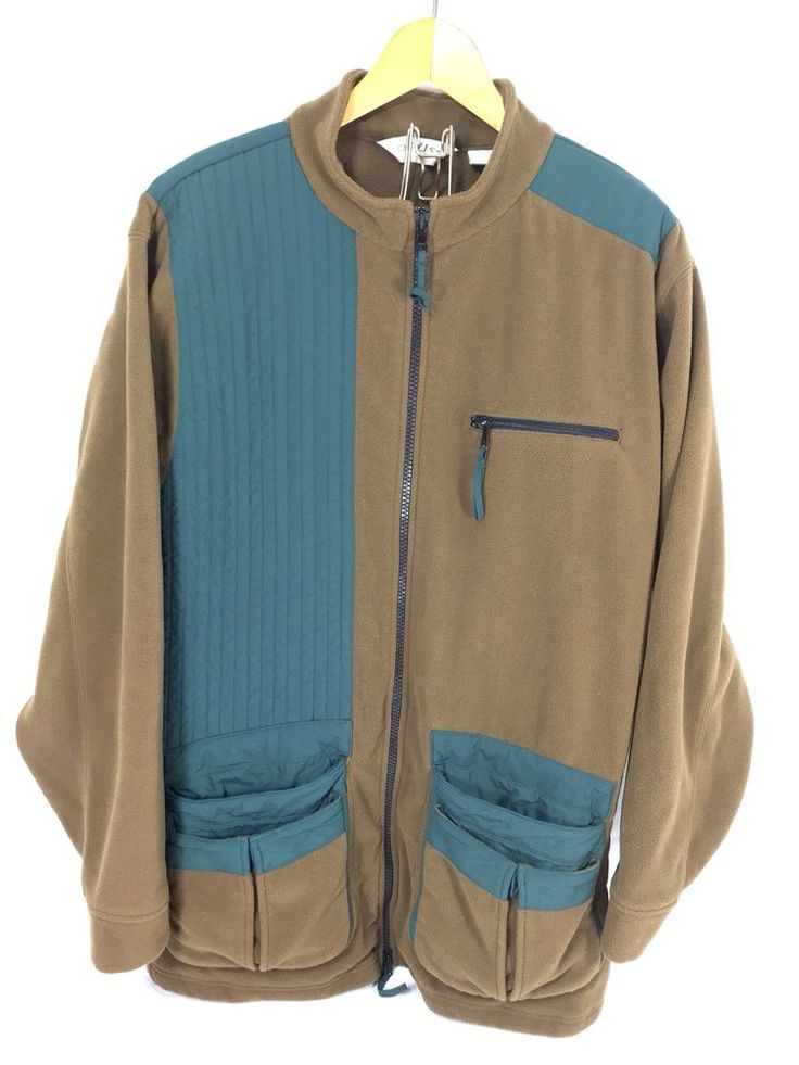 Vintage ORVIS Field Clays Shooting Fleece Hunting Jacket Brown Quilted Size XL #Orvis #FieldShootersJacket #bowierocks