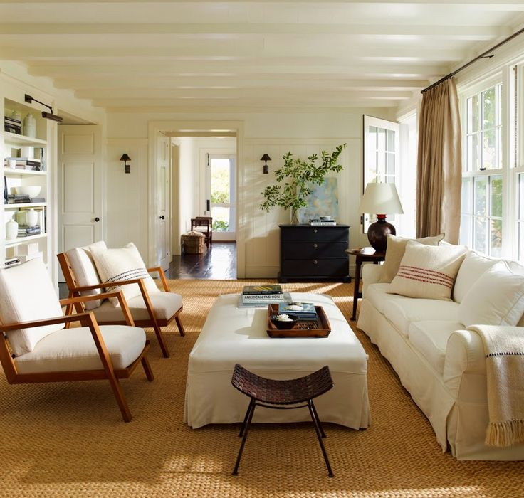 Neutral Living Room By Sawyer Berson Architects Courtesy Of Inspired