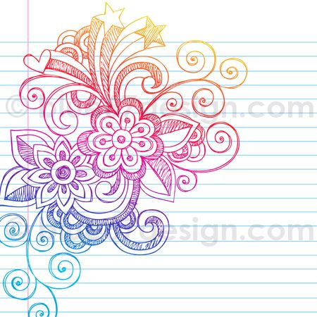 Hand-Drawn Sketchy Notebook Doodle Abstract Flower Design Element- Vector Illustration by blue67design by blue67design, via Flickr