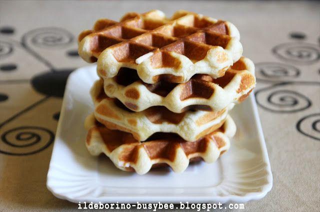 Waffle di Liegi or Liege Waffles