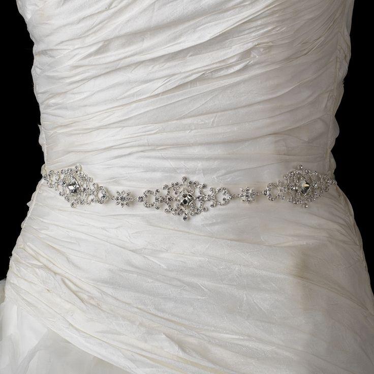 Affordable Elegance Bridal - Dazzling Rhinestone Wedding Dress Belt with Ribbon, $71.99 (http://www.affordableelegancebridal.com/dazzling-rhinestone-wedding-dress-belt-with-ribbon/)