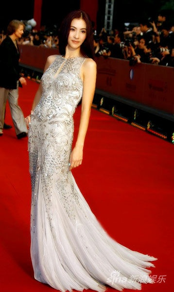 The 15th Annual Shanghai International Film Festival  Chinese actress Cecilia Cheung wore Roberto Cavalli  张柏芝